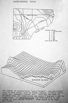 Purchased Toys in Detroit (William Bunge (c) Repris de Visions Cartographiques)
