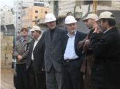 Les ingénieurs de Waad en visite sur le projet. Source: Waad. L'image illustre la domination des ingénieurs sur le processus de conception.