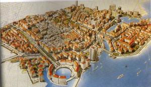 Projet de reconstruction du centre-ville de Beyrouth, 1991 (source: IFPO)