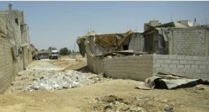Un bâtiment en construction dans la localité d'Al Baadaliya, banlieue de Damas, mai 2011